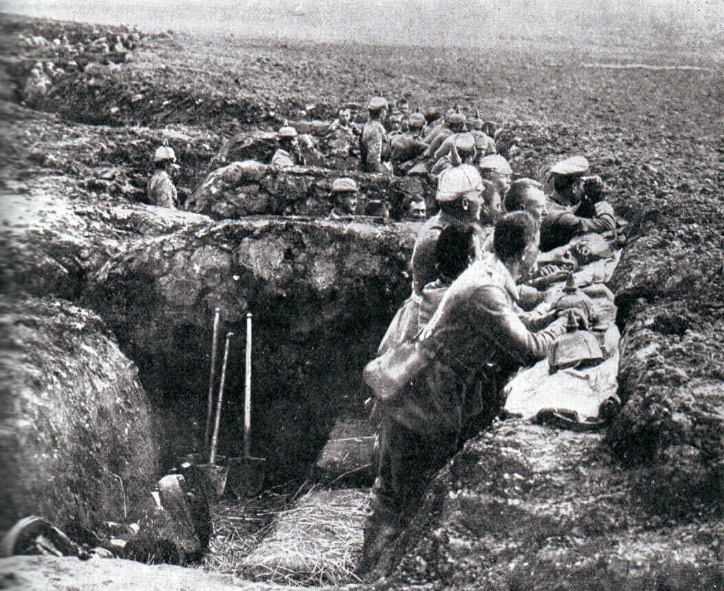 German entrenched position during the Battle of the Aisne, 10th to 13th September 1914 in the First World War
