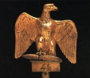 Eagle of the French 45th of the Line, captured by the Royal Scots Greys at the Battle of Waterloo on 18th June 1815