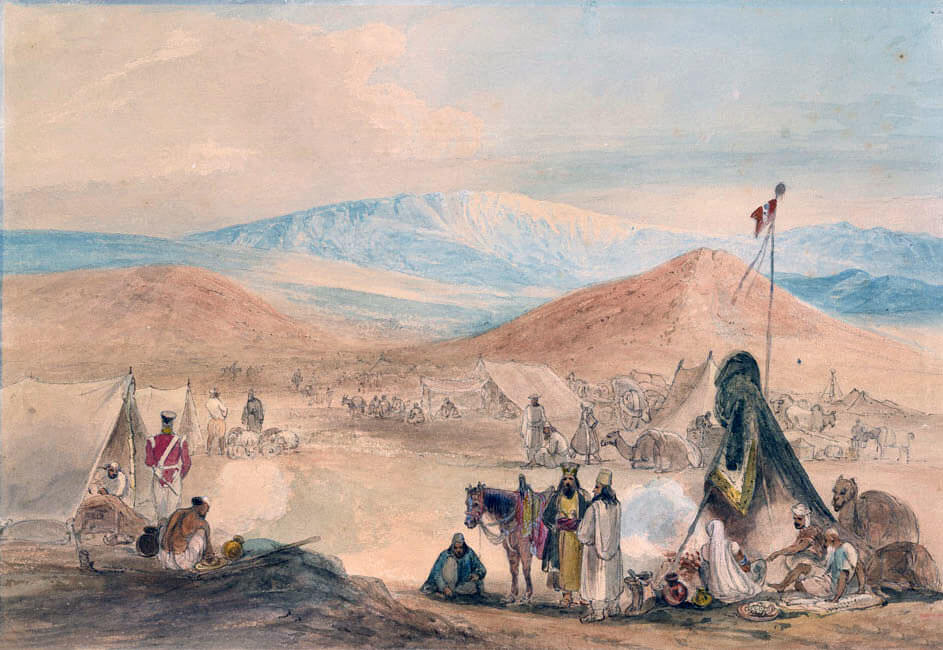 Camp at Dadur at the entrance to the Bolan Pass: Battle of Ghuznee on 23rd July 1839 in the First Afghan War
