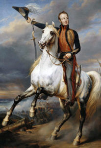 William Prince of Orange: Battle of Waterloo on 18th June 1815: picture by Nicaise de Keyser