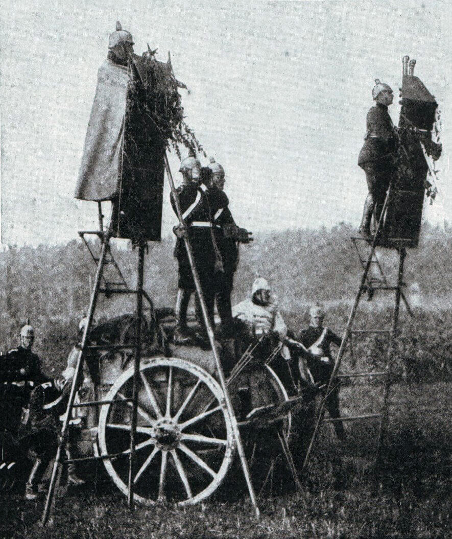 German field observation ladders: Battle of the Aisne, 10th to 13th September 1914 in the First World War
