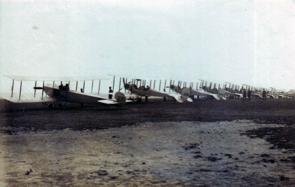 Royal Flying Corps aeroplanes: First Day of the Retreat from Mons and the Battle around Elouges and Audregnies, fought on 24th August 1914 in the First World War