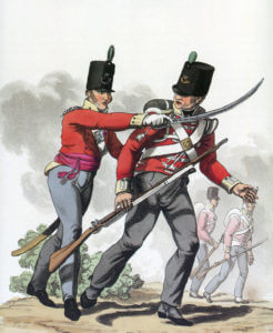 52nd Light Infantry: Battle of Waterloo 18th June 1815: picture by Charles Hamilton Smith