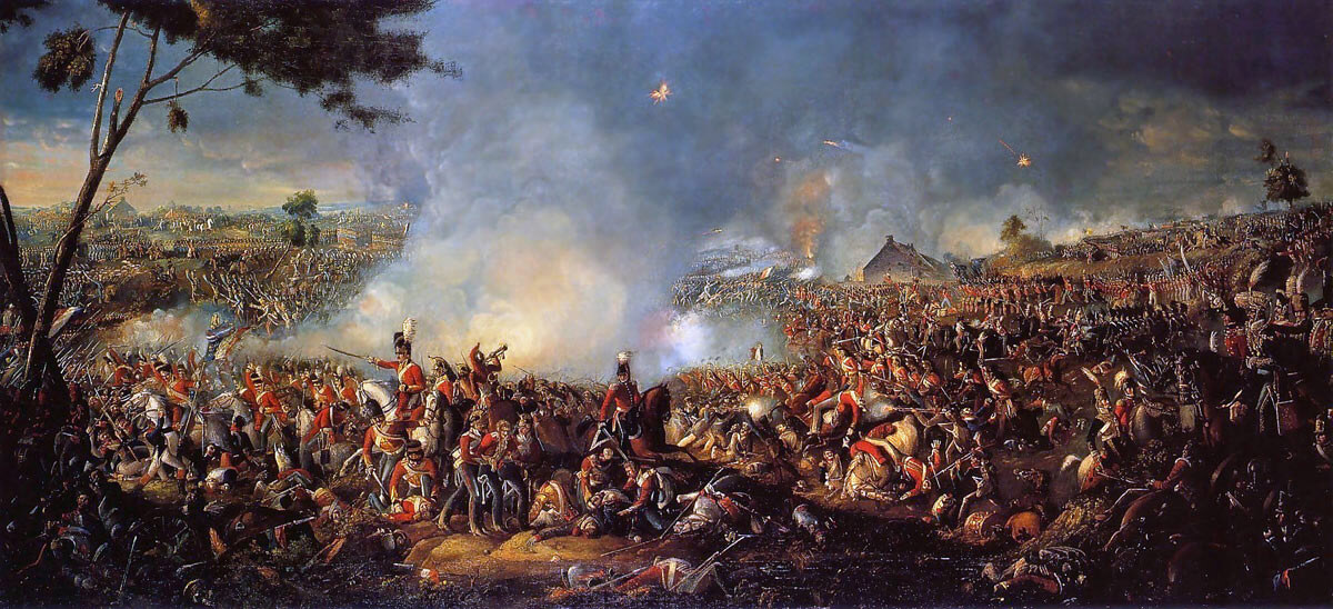 Battle of Waterloo at 7pm on 18th June 1815: picture by William Sadler