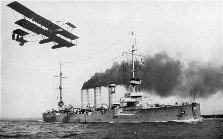 German light cruiser SMS Cöln, flagship of Admiral Maass in the Battle of Heligoland Bight on 28th August 1914 in the First World War, sunk by Admiral Beatty's battle cruisers