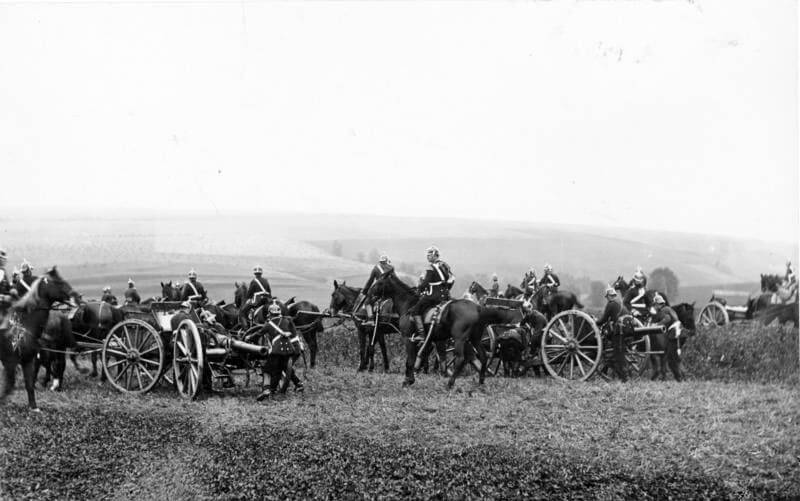 German artillery: Battle of Néry on 1st September 1914 in the First World War