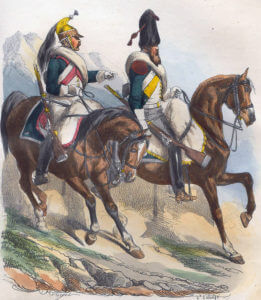 French Dragoons: Battle of Corunna on 16th January 1809 in the Peninsular War