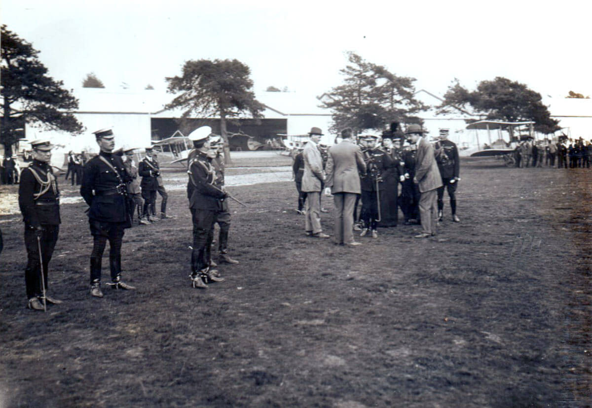 King George V inspects the depot squadron of the Royal Flying Corps in June 1914: British Expeditionary Force (BEF) 1914 Order of Battle