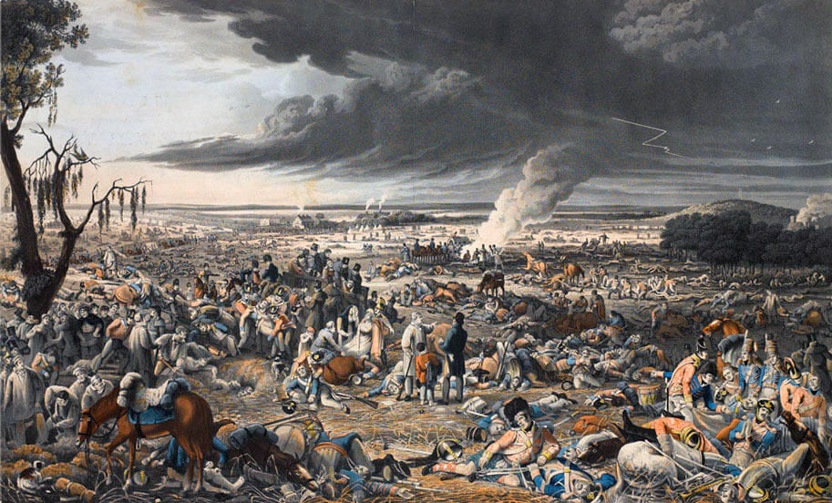 Battlefield after the Battle of Waterloo on 18th June 1815