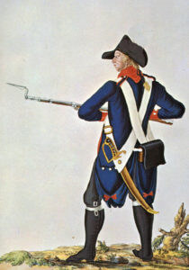 American Continental soldier: Battle of Germantown on 4th October 1777 in the American Revolutionary War