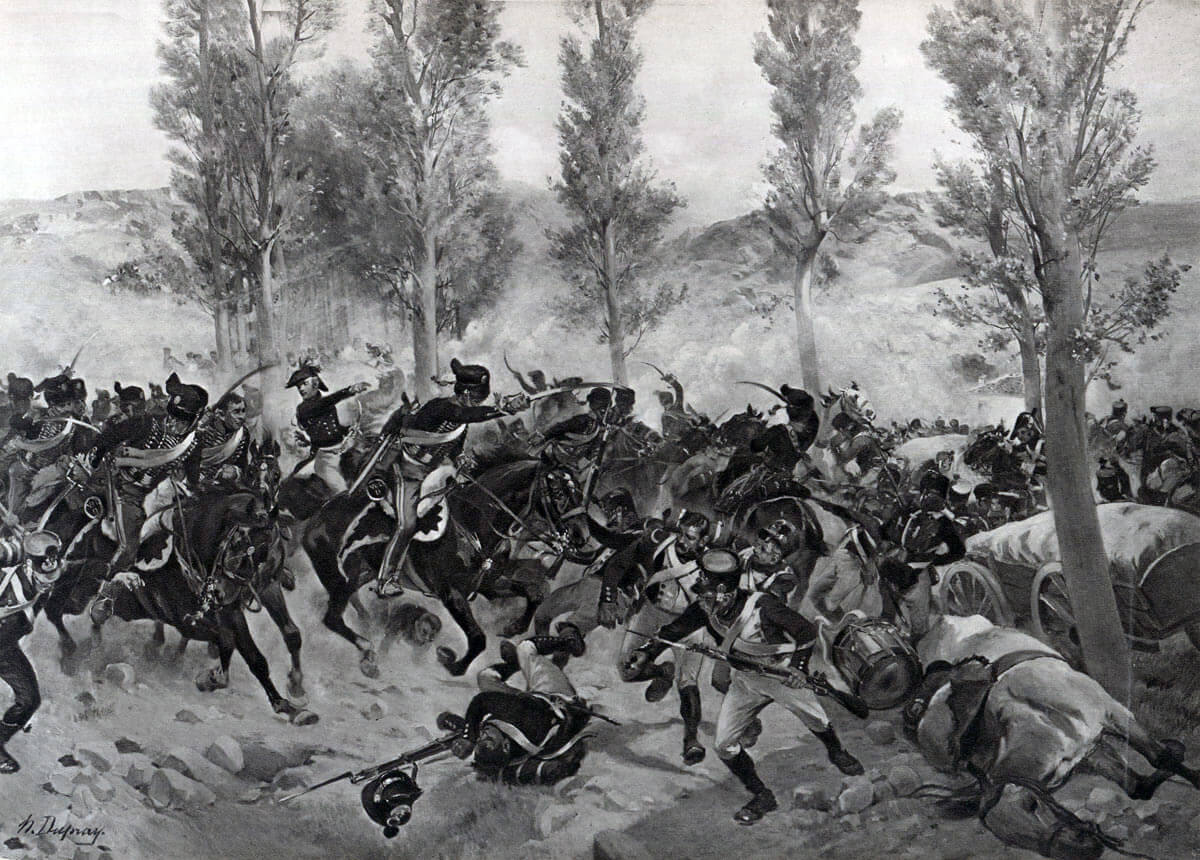 Battle of Vitoria on 21st June 1813 during the Peninsular War: picture by Henri Dupray