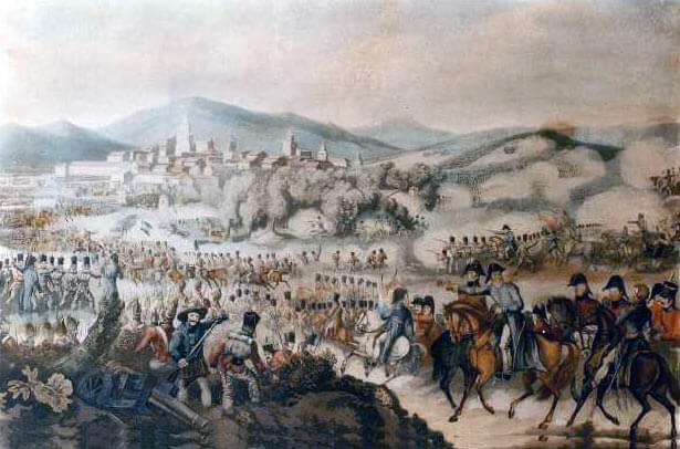 Lord Wellington at the Battle of Vitoria on 21st June 1813 during the Peninsular War