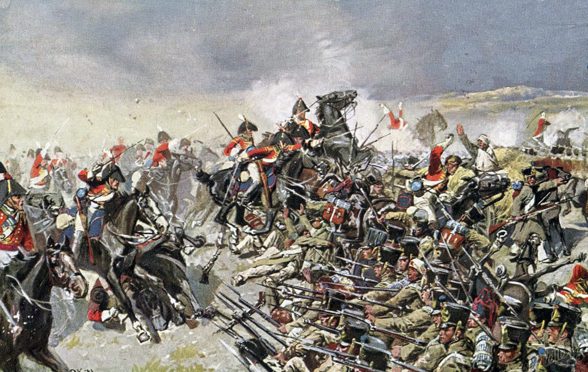 Dragoons of the King's German Legion attacking at the Battle of Salamanca on 22nd July 1812 during the Peninsular War: picture by Richard Knötel