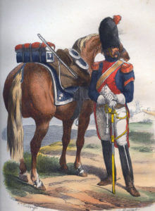 French Carabineer: Battle of Busaco on 27th September 1810 in the Peninsular War