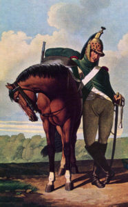 French Dragoon: Battle of Busaco on 27th September 1810 in the Peninsular War