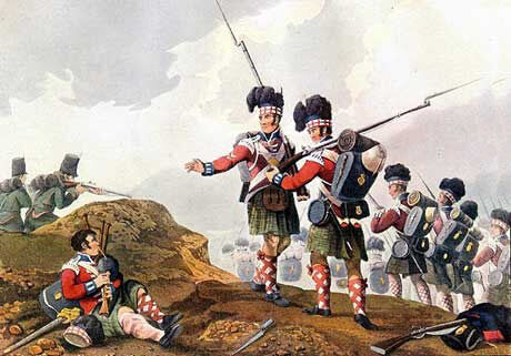 71st Highland Light Infantry and 60th Rifles at the Battle of Vimeiro on 21st August 1808 in the Peninsular War