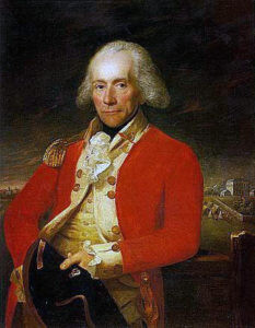 Lieutenant-Colonel Sir Thomas Musgrave commanding 40th Foot at the Battle of Germantown on 4th October 1777 in the American Revolutionary War