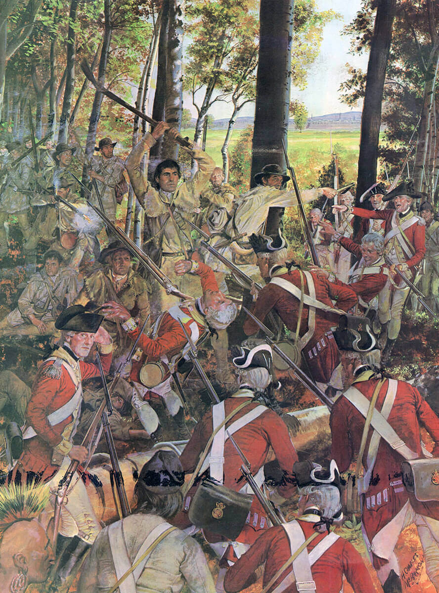 Fighting at Montreal in September 1775: Battle of Quebec on 31st December  1775 in the