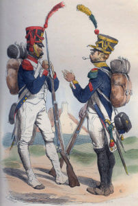 French Grenadiers: Battle of Corunna on 16th January 1809 in the Peninsular War
