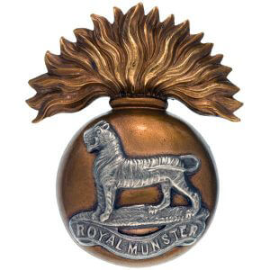 Royal Munster Fusiliers cap badge: Battle of Étreux on 27th August 1914 in the First World War