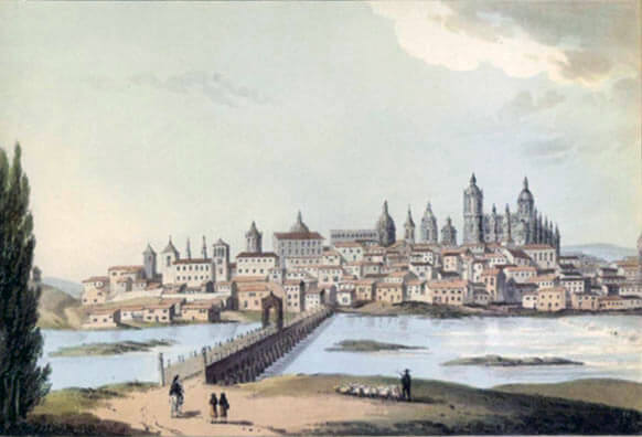 The City of Salamanca: Battle of Salamanca on 22nd July 1812 during the Peninsular War