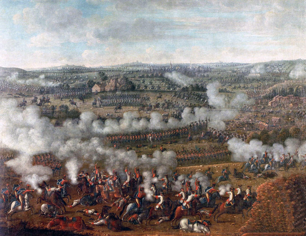 Battle of Rossbach on 5th November 1757 in the Seven Years War