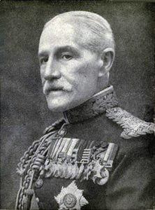 General Sir Horace Smith-Dorrien commanding British II Corps: Battle of Le Cateau on 26th August 1914 in the First World War