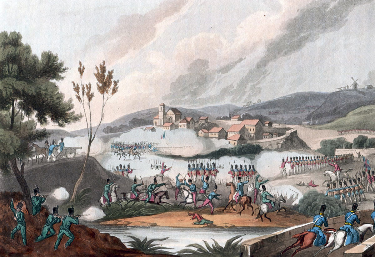 Battle of Vimeiro on 21st August 1808 in the Peninsular War: picture by William Heath