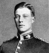 Lieutenant Maurice Dease 4th Royal Fusiliers, awarded a posthumous Victoria Cross for his handling of his machine gun at the Nimy Bridge: Battle of Mons on 23rd August 1914 in the First World War