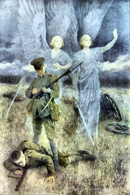 The Angels of Mons: Battle of Mons on 23rd August 1914 in the First World War