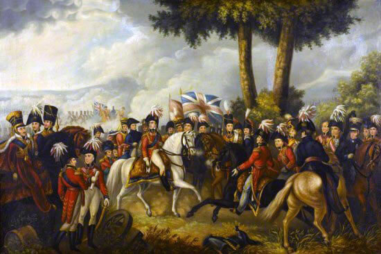 Sir Arthur Wellesley at the Battle of Talavera on 28th July 1809 in the Peninsular War