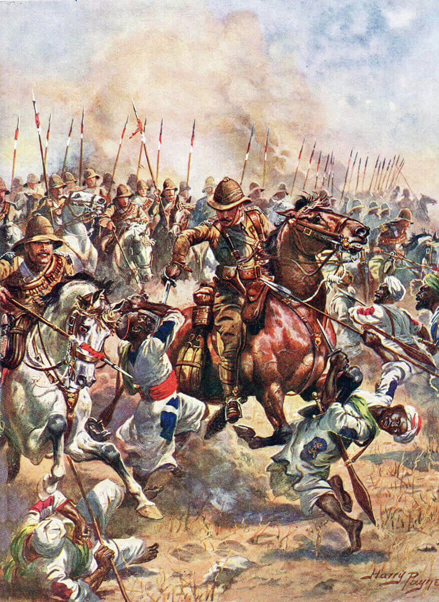 Charge of the 21st Lancers at the Battle of Omdurman on 2nd September 1898: picture by Harry Payne