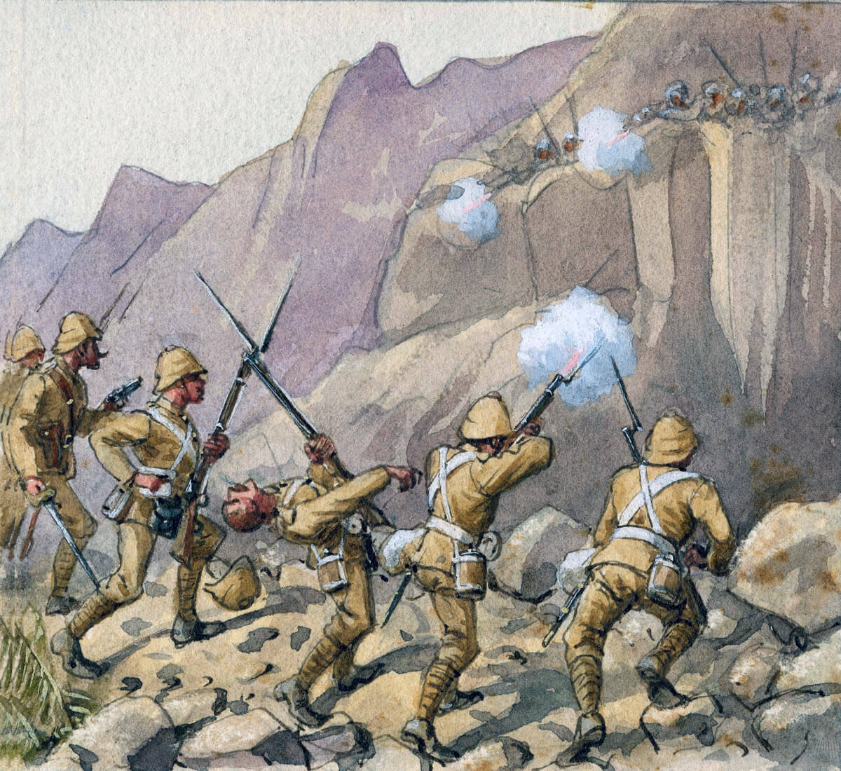 59th Regiment at the Battle of Ahmed Khel on 19th April 1880 in the Second Afghan War