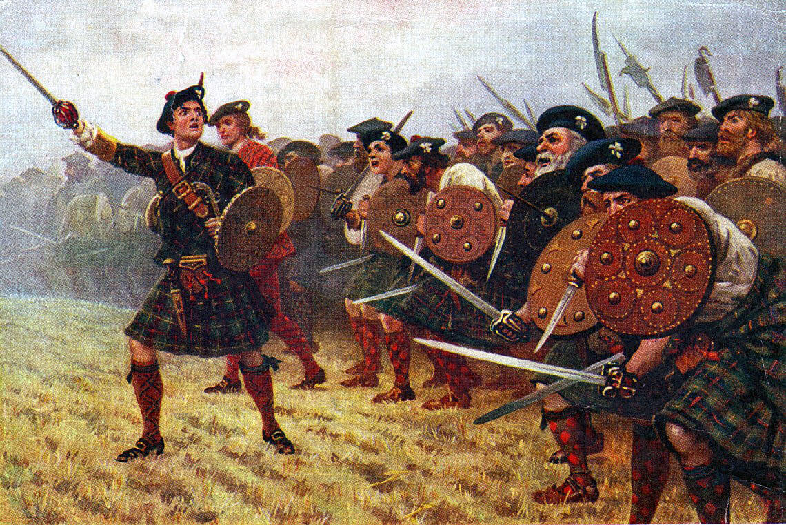 Highland Attack at the Battle of Prestonpans 21st September 1745 in the Jacobite Rebellion
