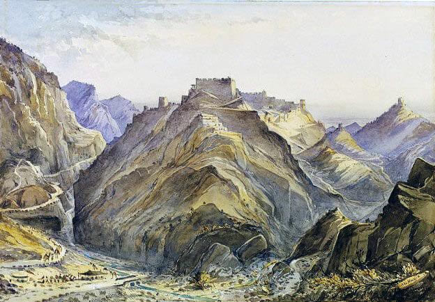 Afghan fort of Ali Masjid in the Khyber Pass: Battle of Ali Masjid on 21st November 1878 in the Second Afghan War