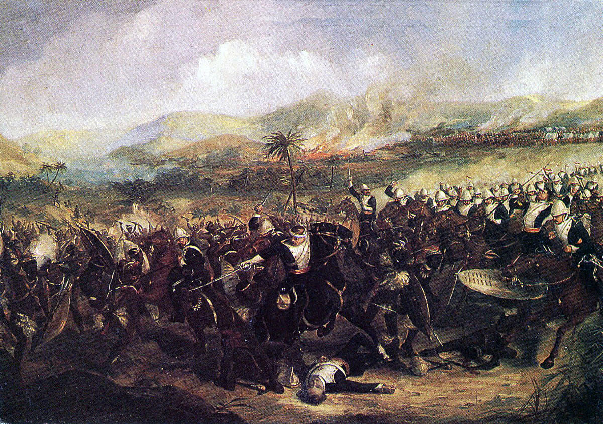 Charge of the 17th Lancers at the Battle of Ulundi on 4th July 1879 in the Zulu War: picture by B. Fayel