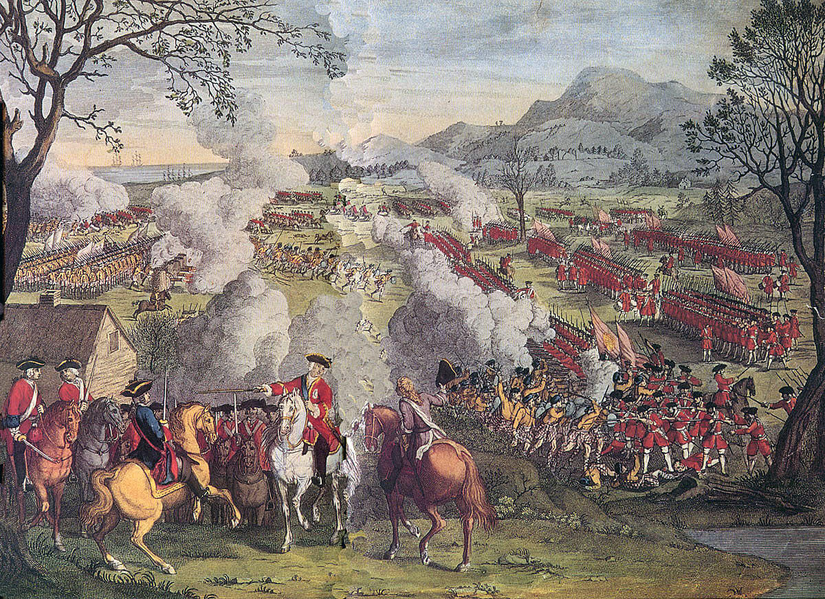 Duke of Cumberland at the Battle of Culloden 16th April 1746 in the  Jacobite Rebellion