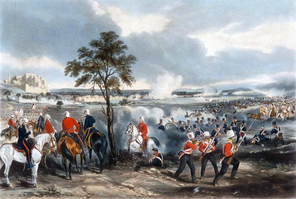 Battle of Goojerat on 21st February 1849 during the Second Sikh War: picture by Henry Martens