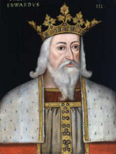 King Edward III of England victor at the Battle of Creçy on 26th August 1346 in the Hundred Years War