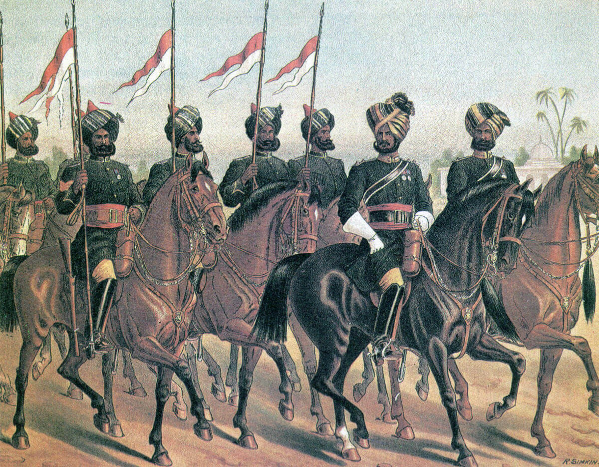 Bombay light cavalry: Battle of Maiwand on 26th July 1880 in the Second Afghan War