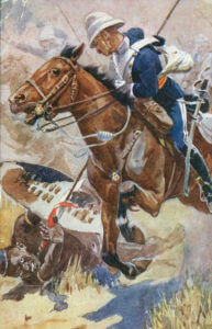 Charge of the 17th Lancers at the Battle of Ulundi on 4th July 1879 in the Zulu War