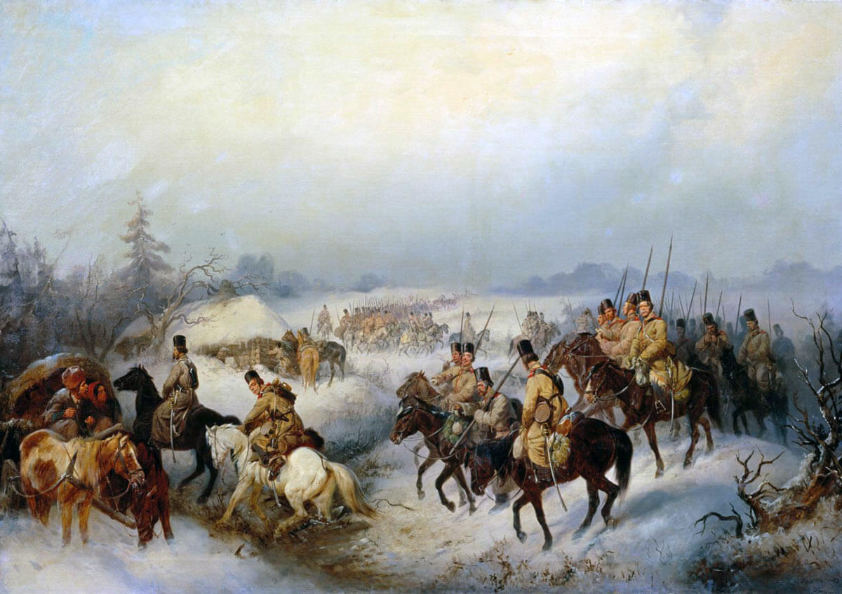 Russian Cossacks on the move: Siege of Sevastopol September 1854 to September 1855: picture by OFilippov