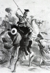 16th Queen's Lancers at the Battle of Aliwal on 28th January 1846 in the First Sikh War