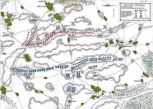 Battle of Waterloo 18th June 1815 : Order of Battle at the Outset of the Battle Map 1 of 3 by John Fawkes.