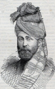 Major Wigram Battye, Queen's Own Corps of Guides, killed at the Battle of Futtehabad on 2nd April 1879 in the Second Afghan War