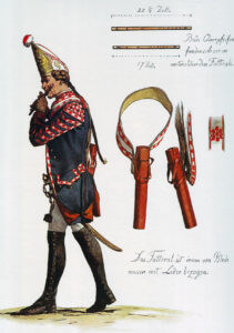 Prussian Infantry Regiment von Meyerinck No 26 fifer (the regiment lost 25 officers and 667 men in the battle): Battle of Mollwitz fought on 10th April 1745 in the First Silesian War: picture by Adolph Menzel