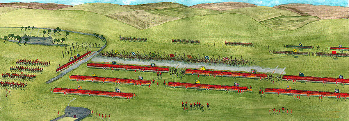 Highland Attack: Battle of Culloden 16th April 1746 in the Jacobite Rebellion: picture by John Fawkes