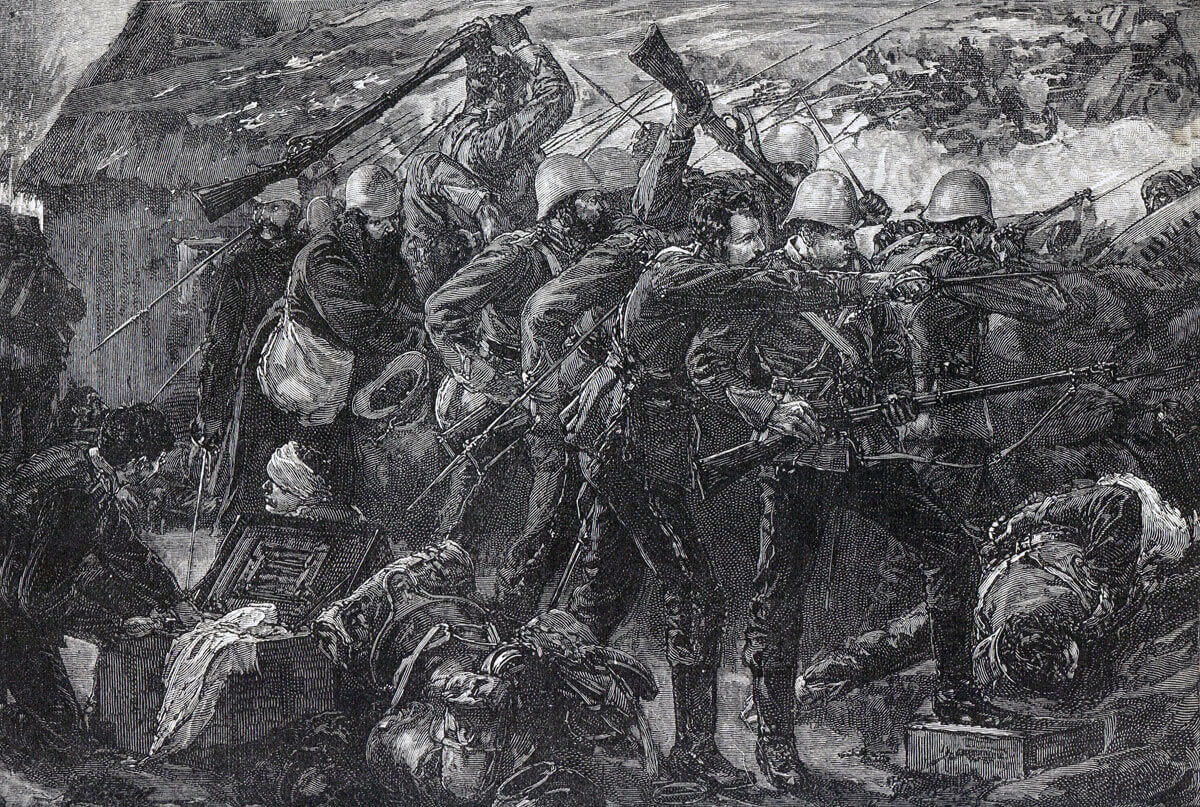 Battle of Rorke's Drift on 22nd January 1879 in the Zulu War