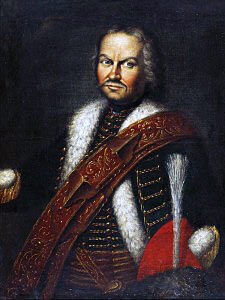 Baron Fransiscus von der Trenck, colonel of Pandours: Battle of Soor 30th September 1745 in the Second Silesian War