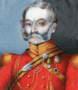 Brigadier Cureton, killed at the Battle of Ramnagar on 22nd November 1848 during the Second Sikh War